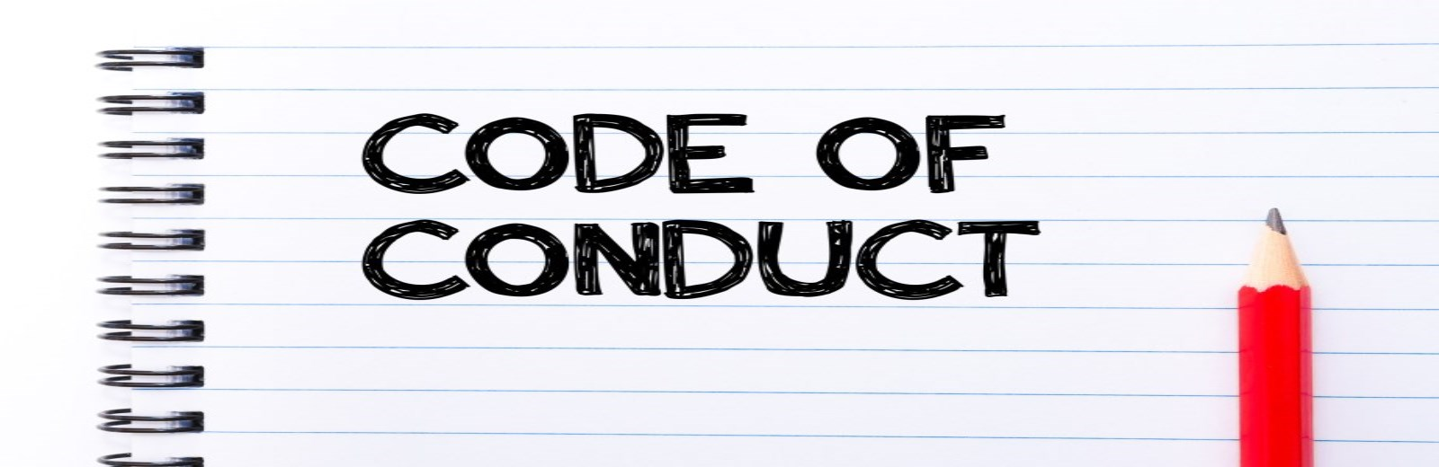 words code of conduct on paper