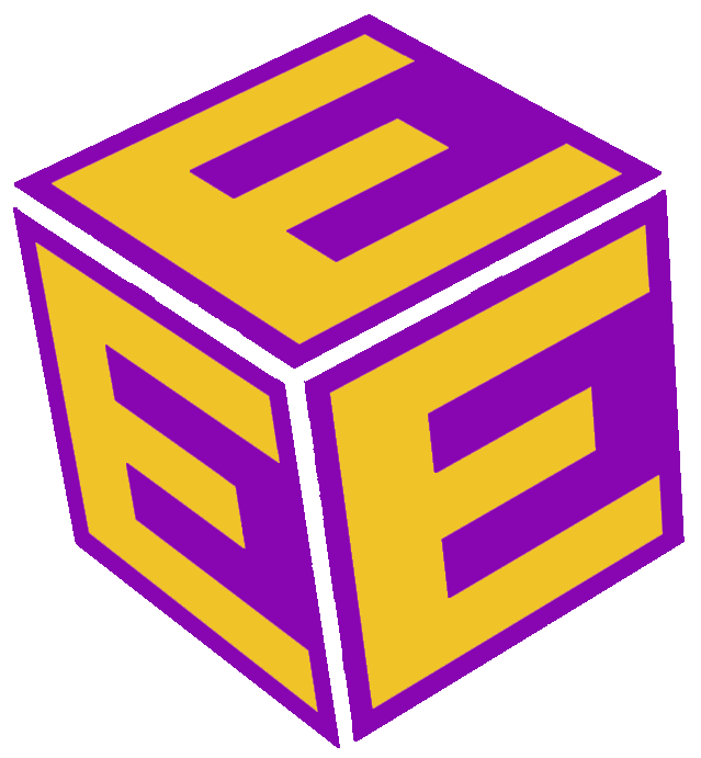 Letter block with the letter E